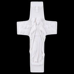 KRZYŻ JEZUS DOBRY PASTERZ ALABASTER KOMUNIA