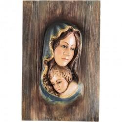 OBRAZ PŁASKORZEŹBA MARYJA Z DZIECIĄTKIEM JEZUS
