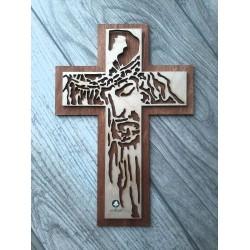 Krzyż ażurowy z  Jezusem Chrystusem