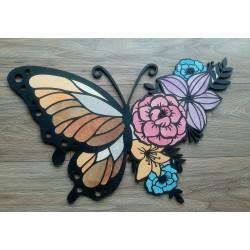 Obraz dekor ścienny motyl kwiaty