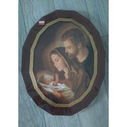 Święta Rodzina w ciekawej owalnej ramie obraz