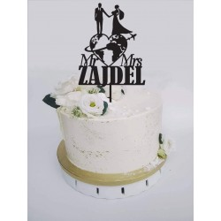Topper na tort ślubny + nazwisko