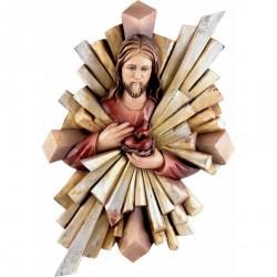 SERCE JEZUSA Z PROMIENIAMI PŁASKORZEŹBA